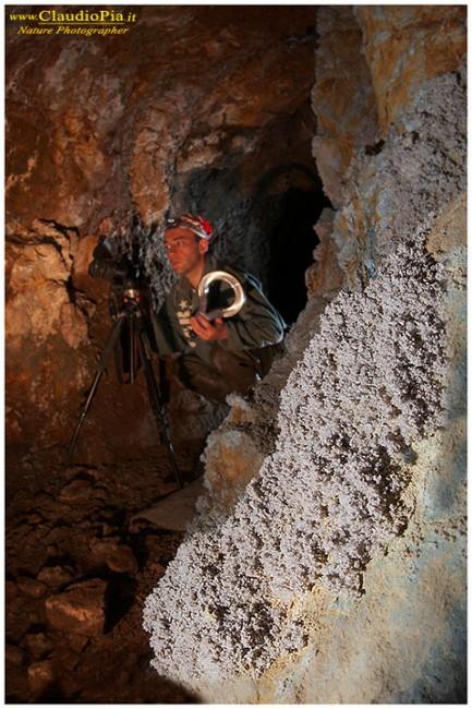 L'amico Simone cademartori al lavoro in una miniera di Calcopirite