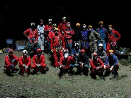 Speleo di vari Gruppi del FVG con Babbo Natale alla Grotta Noè