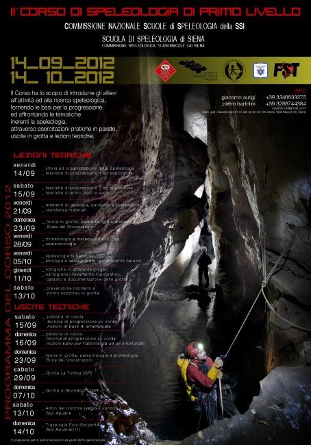 II Corso Introduzione Speleologia Siena 2012