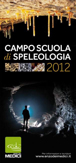 Locandina Campo scuola di speleologia 2012