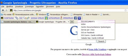 Toolbar speleo